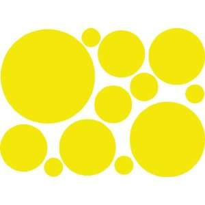 Yellow Polka Dots Wall Decor Stickers Decals Vinyls
