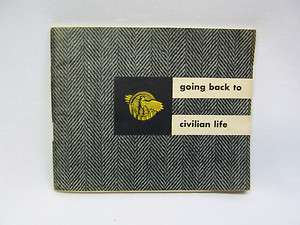 war & navy department us military book going back to civilian life