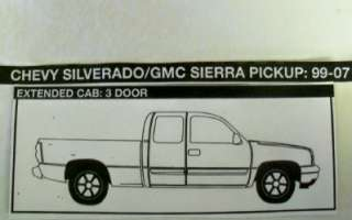 Chevy Silverado GMC Sierra Extended Cab Corner LH