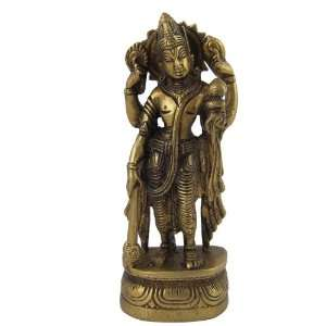 Hindu God Vishnu Brass Religious Gifts: Home & Kitchen