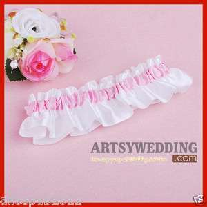 Promotion White and Pink Stretch Satin Toss Party Wedding Bridal