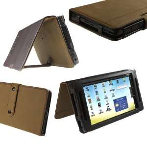iGadgitz Brown Genuine Leather Case Cover for Archos 70 Android