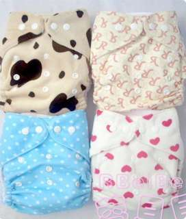 1pcs Velcro AIO Baby adjustable Cloth Diapers Nappies