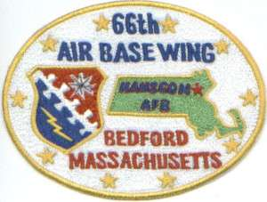 USAF PATCH, 66TH AIR BASE WING, HANSCOM AFB MASS.