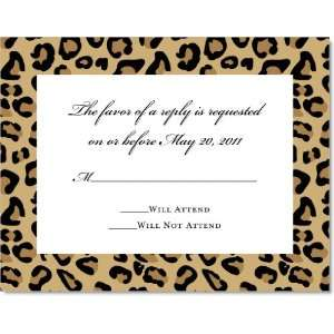 Fashionable Leopard Print Response Cards