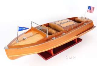 Runabout Wood Model 24 Classic Mahogany Racing Speed Boat For Sale