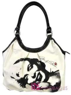 Licensed MARILYN MONROE Signature Product Shoulder Tote Purse Bag
