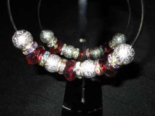 NEW Basketball Wives Love and Hip Hop Poparazzi Red Stone Bling Hoop