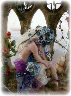 the Dead BLUE MUERTOS Art Doll Sculpture Vicci Noel OOAK Tattoo
