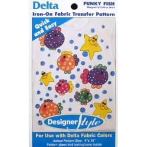 Delta Iron On Fabric Transfer Pattern Funky Fish Arts