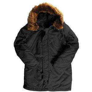 ALPHA INDUSTRIES DARLA LADIES SNORKEL COAT BLACK WOMENS S XL ARMY