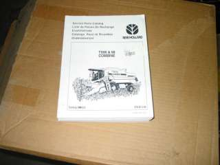 NEW HOLLAND TX 66 TX 68 COMBINE SERVICE PARTS CATALOG