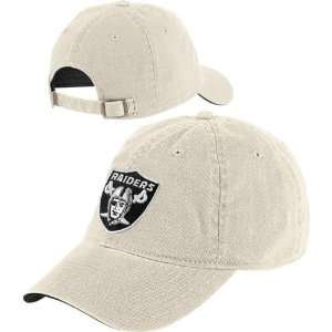 Oakland Raiders Logo Slouch Strapback Hat: Sports