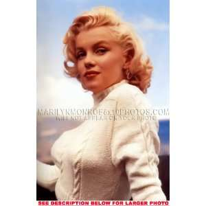 MARILYN MONROE WHITE SWEATERED BEAUTY (1) RARE 8x10 FINE