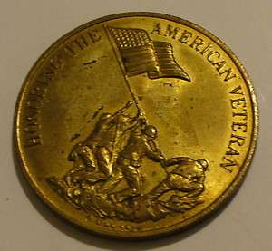 HONORING THE AMERICAN VETERAN PRESERVING AMERICAN FREEDOM COIN / TOKEN