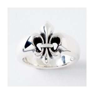 Ladies Sterling Silver Fleur de Lis Ring by Bob Siemon