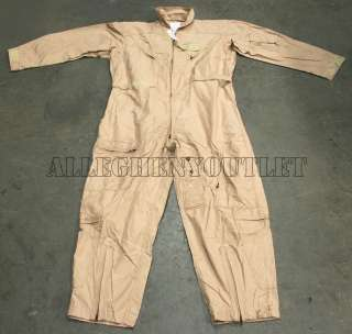 USAF AIR FORCE NOMEX FLYERS COVERALL FLIGHT SUIT DESERT TAN CWU 27/P