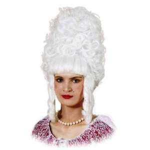 Pantomime Dame White Pompadour Fancy Dress Wig & Cap