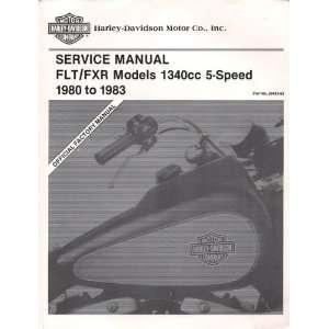 Harley Davidson Service Manual FLT/FXR Models 1340cc 5