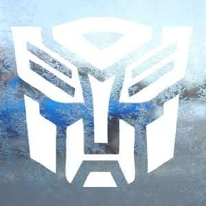 TRANSFORMERS White Decal AUTOBOT LOGO MOVIE Window White