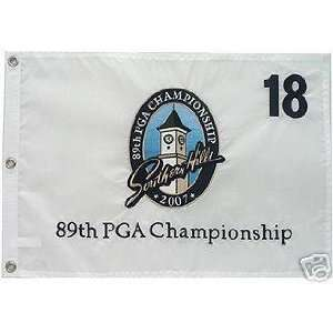 2007 PGA Southern Hills Tour Flag Authentic TIGER WOODS   Golf Flags
