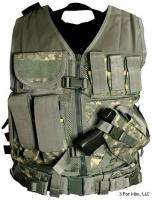 Tactical Vest Digital Camo Military Special Forces Swat Police Hunting