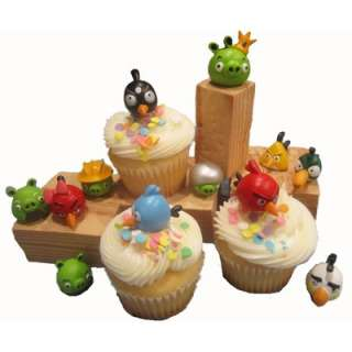 Angry Birds & Pigs Cake   Cupcake Toppers Decorations / Party Favors