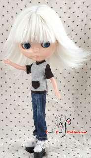 CoolCat, Custom Blythe Wigs ( D2 0318 05 ) Matt White