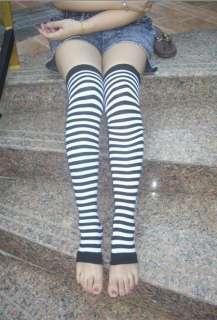 NEW Womens Girls Zebra Leg warmers over the knee socks Knee high socks