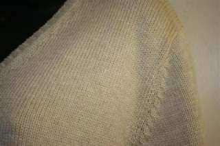 Womens LANDS END Taupe V Neck Knit Sweater LS Cotton Size XL 18 20 NEW