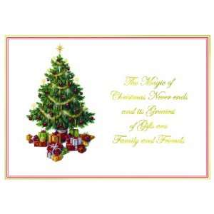 Magic of Christmas   Tree with Presents Holiday Cards