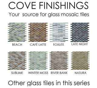 Light Aqua/Cool Blue Glass Mosaic Subway Tile Kitchen Backsplash