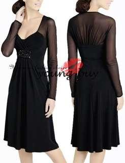 Black Lady Formal Costume Party Dress AU Sz 6 16 W1075