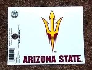 Arizona State Sun Devils NCAA Sports Sticker Static Cling / Window