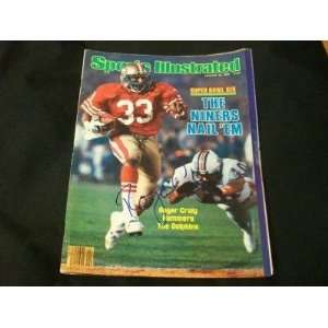 Roger Craig Auto 1/28/85 Sports Illustrated PSA DNA Q