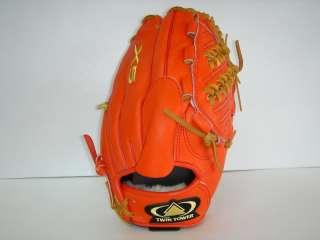 TWIN TOWER Baseball Gloves Orange 12 { X5 } RHT