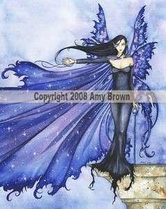 Cloak of Stars Fairy Fantasy Art Amy Brown Mousepad