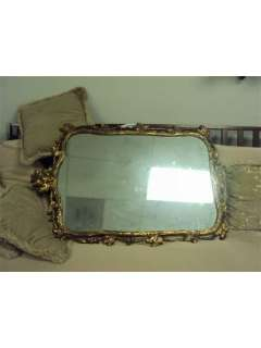 Vintage Turner wall accessory mirror with antique frame