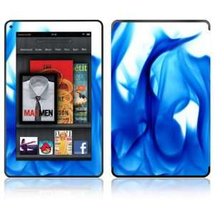 Blue Flame Design Decorative Skin Decal Sticker for  Kindle Fire