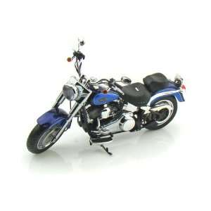 2009 Harley Davidson FLSTF Fat Boy 1/12 Black Ice/Blue Ice