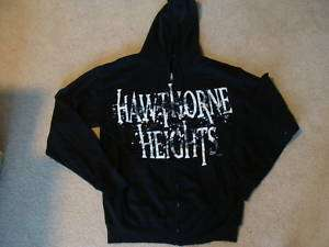 HAWTHORNE HEIGHTS Hoodie sweat shirt zip up jacket Sm