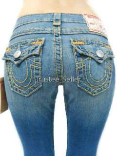 NWT TRUE RELIGION Women Jeans Becky Gold Multi Super T