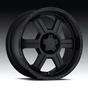 17 x9 inch V tec Raptor black wheels Chevy Dodge 8 LUg