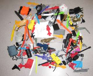 Vintage G.I. Joe Action figure/vehicle weapons/parts/accessories lot