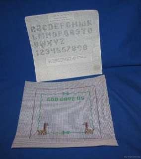 Needlepoint Birth Sampler Unfinished Canvas God Gave Us