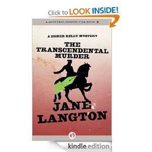 The Transcendental Murder A Homer Kelly Mystery Jane Langton