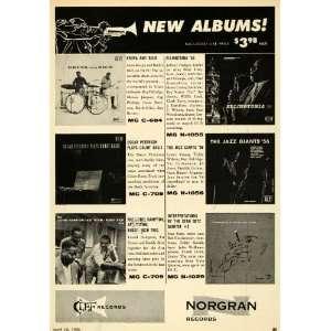 1956 Ad Clef Norgran Records Krupa Buddy Rich Stan Getz