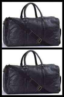 Mens 21 Pebble Grain Genuine Leather Tote Travel Bag