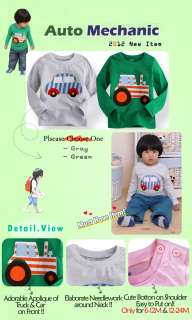 Toddler Kid Girl Boys Longsleeve T Shirt  Auto Mechanic