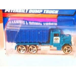 hot wheels blue dump and teal peterbilt dump truck 190
